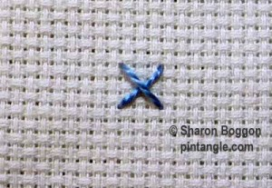 Woven cross stitch step 1