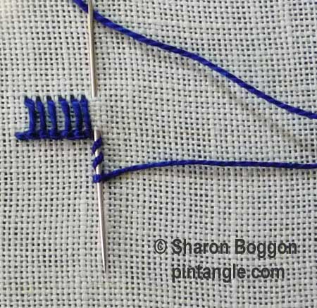 Buttonhole Picot V1 step 1