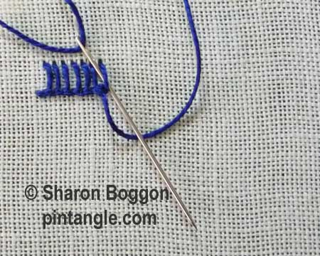 Buttonhole Picot V1 step 3