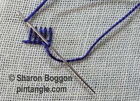 Buttonhole Picot V2 step 3
