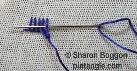 Buttonhole Picot V2 step 5