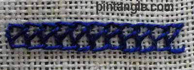 Turkman stitch step 5