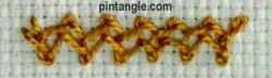 Spanish feather stitch 6