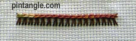 Raised Chain Stitch version 2 step 5