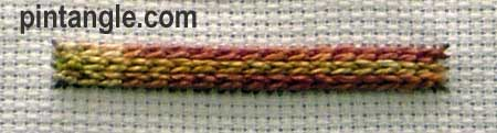 Raised Chain Stitch version 2 step 6