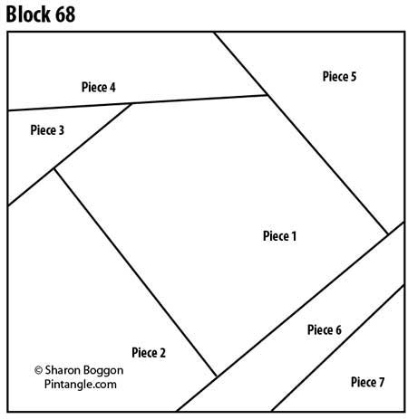 Crazy quilt block 68  free pattern