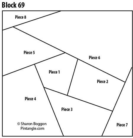 Crazy quilt block 69 free pattern