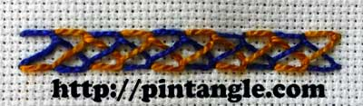 Plaited Feather Stitch 4