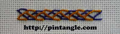 Crossed Feather Stitch 5