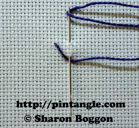 Straight Sided Feather stitch 1