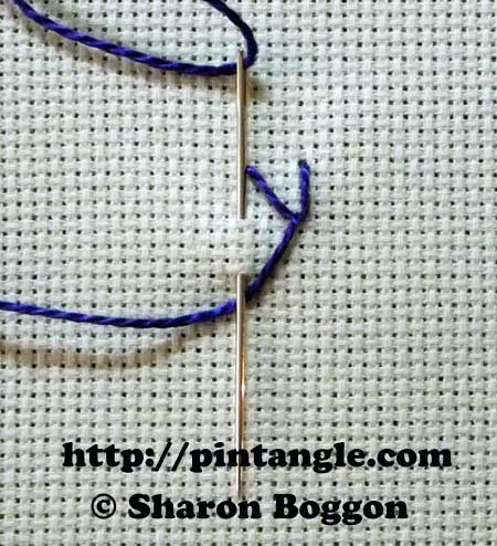 Straight Sided Feather stitch 2