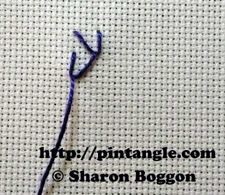 Straight Sided Feather stitch 3