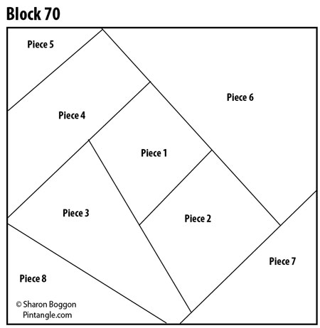 Crazy quilt block 70 pattern