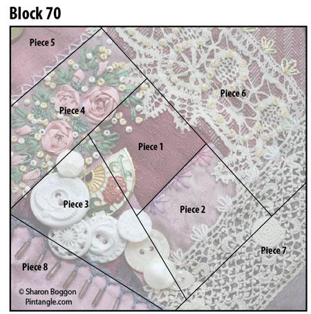 Crazy quilt block 70diagram