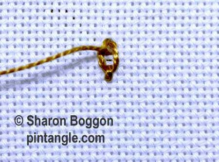 Linked Chain stitch 4