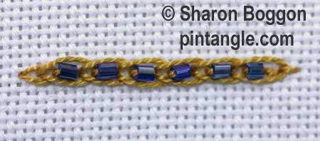 Beaded Linked Chain stitch 5