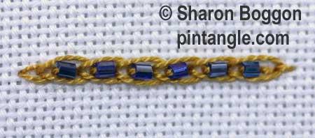 Beaded Linked Chain stitch 5