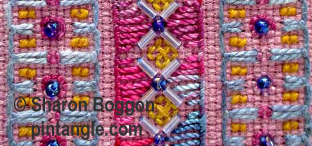 Needlework Sampler band 647 detail