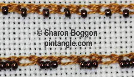 beaded shell chain stitch 4
