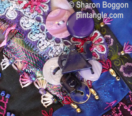 crazy quilt seam embroidery detail