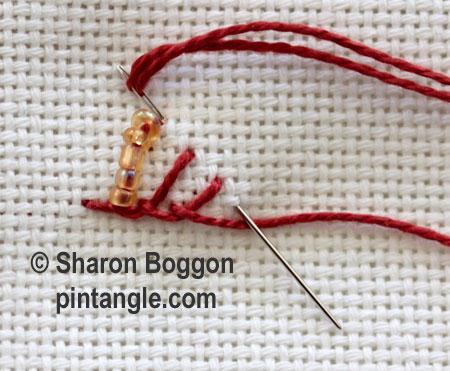 Beaded Triangular buttonhole 4