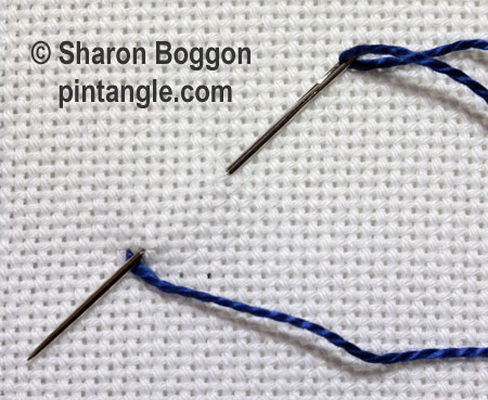 Triangular buttonhole
