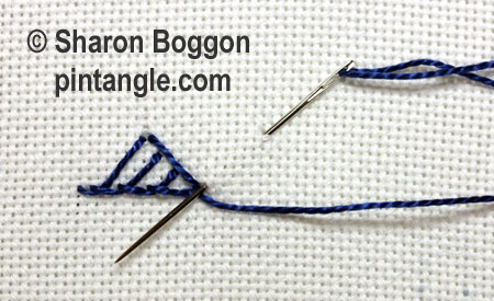Triangular buttonhole 5