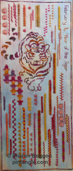 section 49 of needlework sampler