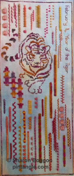 section 49 of needlework sampler