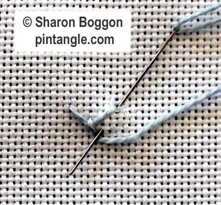 Looped Cretan stitch 3