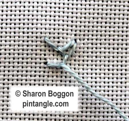 Looped Cretan stitch 6