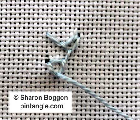 Looped Cretan stitch 8