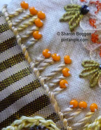 How to hand embroider crazy quilt seams-buttonhole