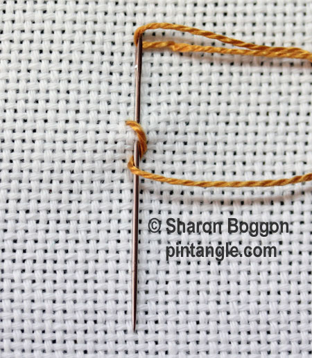 Twisted Chain Stitch or Rope Stitch