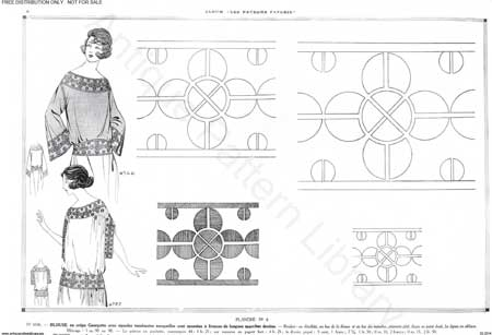 free flapper embroidery designs