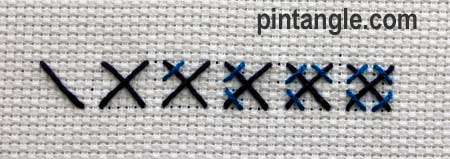 Rice stitch V1 illustrated steps