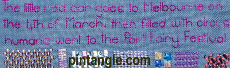 Detail 656 on my Freeform Hand Embroidery Sampler
