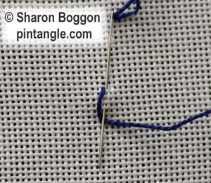 Long Tail Chain Stitch Plain, beaded and whipped