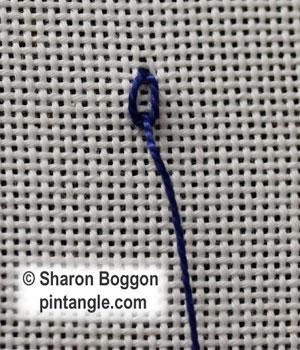 Long Tail Chain stitch 2