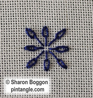 Long Tail Chain stitch step 2