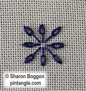 Long Tail Chain stitch step 2