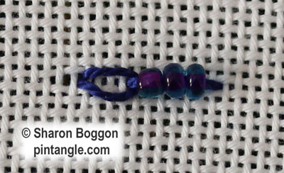 Beaded Long Tail Chain stitch