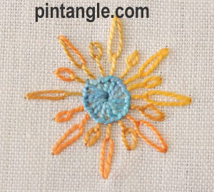 sample of Long Tail Chain stitch