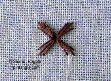 Woven trellis stitch 1