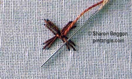 Woven trellis stitch 3