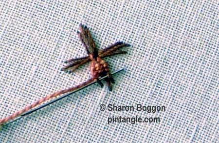 Woven trellis stitch 4