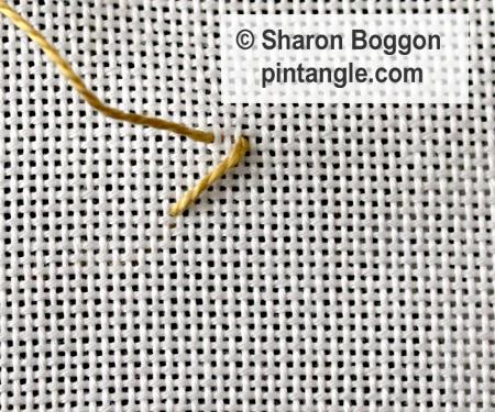Beaded Herringbone stitch step 2