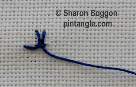 Interlaced Up and down buttonhole 4