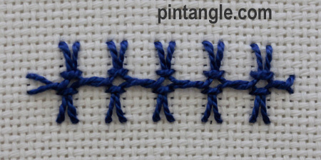 Interlaced Up and down buttonhole 9