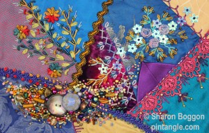crazy quilt Pocket